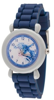 Disney Frozen 2 Elsa Grils' Gray Plastic Watch, 1-Pack