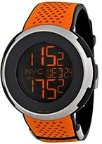 Gucci Men's I YA114104 Orange Rubber Swiss Quartz Watch with Digital Dial