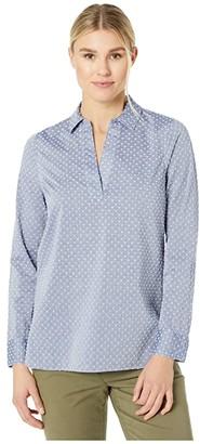 NYDJ Popover Tunic (Indigo Swiss Dot) Women's Clothing