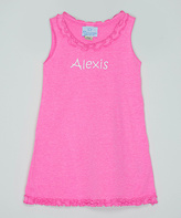 Princess Linens Pink Ruffle Personalized Shift Dress - Infant Toddler & Girls