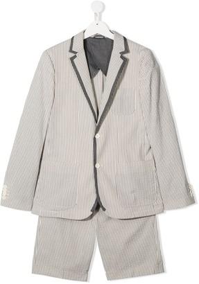 Stella Mccartney Kids Striped Seersucker Short Suit