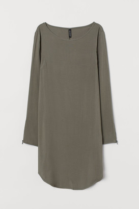 H&M Short Viscose Dress - Green