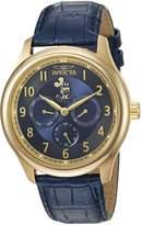 Invicta Men's 'Disney Limited Edition' Quartz -Tone and Leather Casual Watch, Color:Blue (Model: 25167)