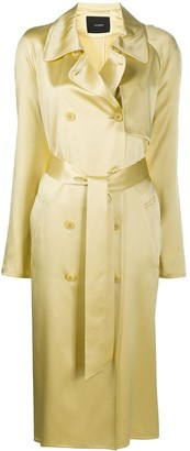Joseph Silk Double-Breasted Trench Coat
