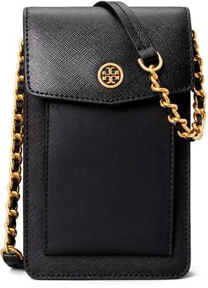 Tory Burch Robinson Mixed Leather Phone Crossbody Bag