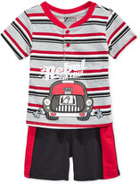 Nannette 2-Pc. Rebel Henley Shirt and Shorts Set, Baby Boys (0-24 months)