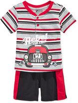 Nannette 2-Pc. Rebel Henley Shirt & Shorts Set, Baby Boys (0-24 months)