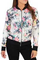 FANOVI Women Retro Ethnic Long Sleeve Zip Up Floral Print Casual Bomber Jacket XL
