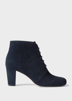 Hobbs Patricia Suede Block Heel Ankle Boots