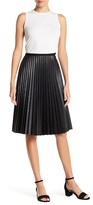 Matty M Faux Leather Accordion Pleat Skirt