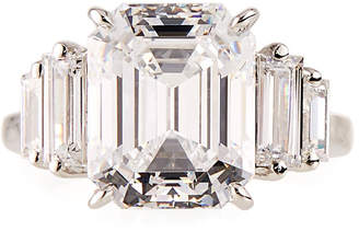 FANTASIA Emerald-Cut Simulated Sapphire Cocktail Ring, White, Size 6-8