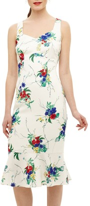 Phase Eight Bethania Floral Dress, Cream/Multi