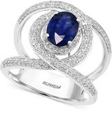 Effy Sapphire (1-3/8 ct. t.w.) and Diamond (5/8 ct. t.w.) Ring in 14k White Gold