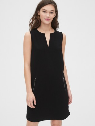 Gap Split-Neck Zip-Pocket Dress