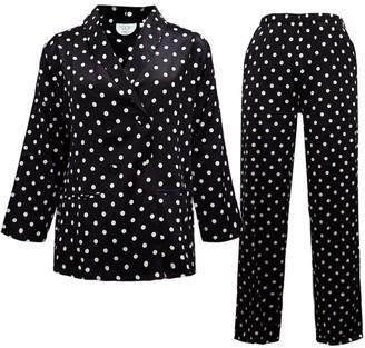 Not Just Pajama Polka Dot Silk Pyjamas Set