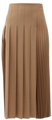 Joseph Sallis Pleated Wool-blend Midi Skirt - Camel
