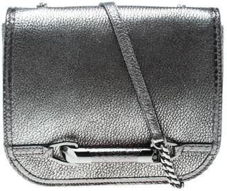 Jimmy Choo Metallic Grey Leather and Snake Skin Trim Zadie Crossbody Bag