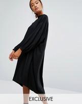 Monki Oversized Long Sleeve Midi Dress