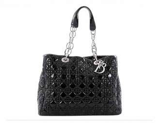 Christian Dior Soft Shopping Black Patent leather Handbags