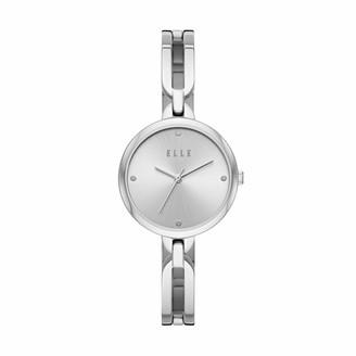 Elle Wagram Three-Hand Stainless Steel Watch