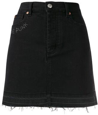 Zadig & Voltaire Juicy embroidered denim skirt