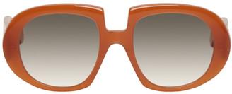 Loewe Orange Oversized Anagram Sunglasses