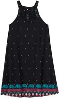 Mudd Girls 7-16 & Plus Size Crochet High Neck Swing Dress