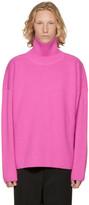 Ami Alexandre Mattiussi Pink Oversized Turtleneck
