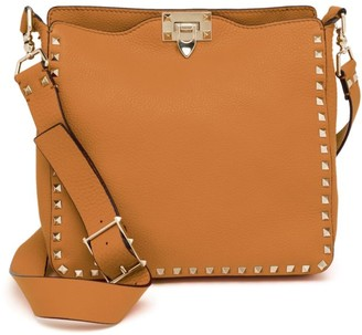 Valentino Garavani Small Rockstud Leather Hobo Bag