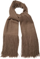 Denis Colomb Fringed bouclé-knit cashmere scarf