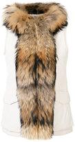 Woolrich fur trim gilet - women - Feather Down/Polyamide/Polyester/Raccoon Dog - S