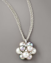 Majorica Pearl Cluster Necklace