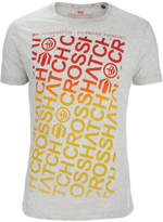 Crosshatch Men's Noremac Faded Logo Print T-Shirt - Light Grey Marl