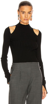 Helmut Lang Cutout Pullover Top in Black | FWRD