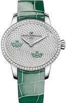 Girard Perregaux Girard-Perregaux 80489D53A1B3-CKAA Cat's Eye Water Lily diamond and alligator leather watch