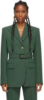 Givenchy Green Plaid Blazer