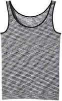 Joe Fresh Women's Space Dye Tank Top, Black Mix (Size XS/S)