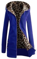 June's Young Women Outerwear Spring Winter Thicken Slim Leopard Clothes 5 Colors