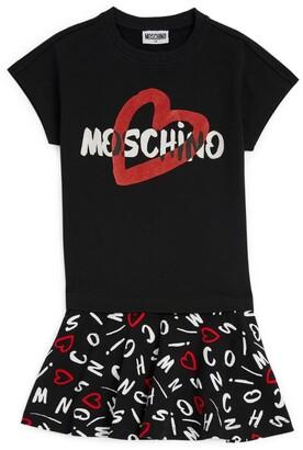Moschino Kids Heart Print T-Shirt Dress (4-14 Years)
