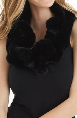 Love Token Caroline Genuine Rabbit Fur Scarf