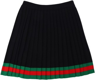 Gucci Pleated Wool Knit Skirt