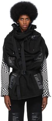 TAKAHIROMIYASHITA TheSoloist. Black Fleece Blanket Jacket