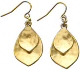 Lauren Ralph Lauren Gold-Tone Leaf Drop Earrings
