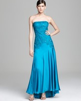 Sue Wong Gown - Strapless Beaded Bodice