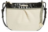 Brahmin Tara Embossed Leather Crossbody Bag - Ivory