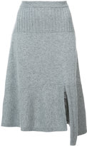 Barrie asymmetric knit skirt