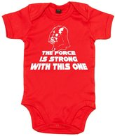 Dirty Fingers, The Force is strong with this one, Baby Girl, Bodysuit, 3-6m