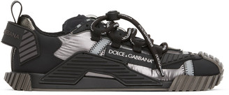 Dolce & Gabbana Silver and Black NS1 Sneakers