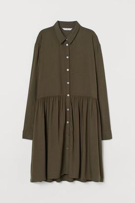 H&M Airy Shirt Dress - Green