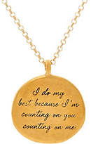 "Dogeared Maya Angelou ""I do my best"" 14K Gold Plated Quote Pendant"